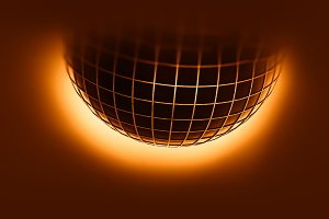 Sun globe with grid background