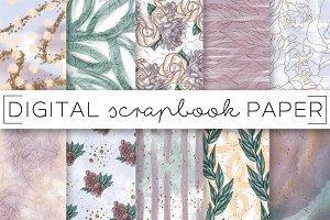 Mauve Pastel Abstract Paper Set