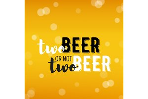 Beer background with text
