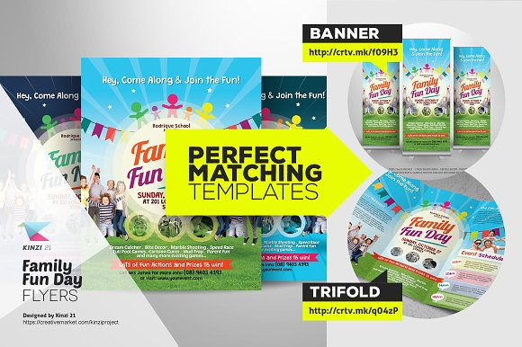 Family Fun Day Flyers Flyer Templates Creative Market