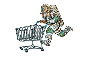 Astronaut in the store with a