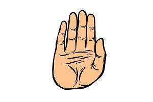 palm, stop gesture