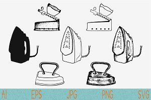 iron svg set vector png eps