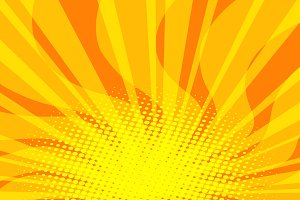 yellow Sunny pop art background