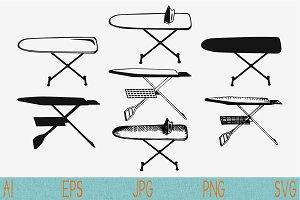 Ironing board svg set vector png eps