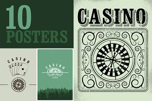 Casino vintage grunge posters.