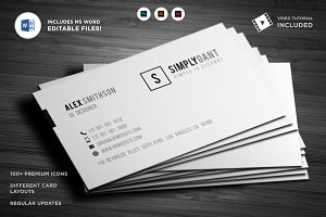 Sleek Minimal Business Cards