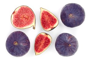 fig fruits isolated on white