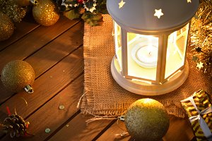 Composition with lantern xmas
