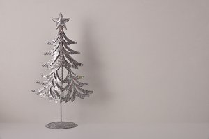 Christmas decoration tree on table