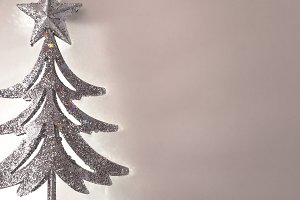 Christmas silver tree detail
