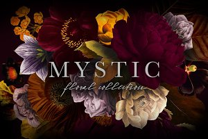 Mystic Floral Collection Clip Art