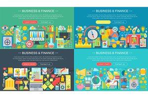 Business and finance concept set.