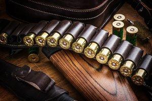 Pump action shotgun, 12 guage cartri