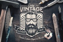 Easy Vintage Logo Creation Kit by  in Logos