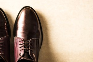 Elegant Leather Lace Up Brogues