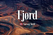 Fjørd Serif by  in Serif Fonts
