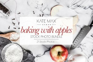 Baking With Apples Stock Photo Bundl