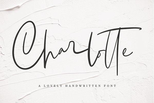 Script Fonts: Megi Satyo Widodo - Charlotte | Handwritten Font