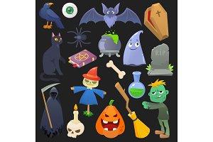 Halloween vector spooky pumpkin