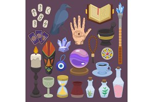 Fortune telling vector fortune
