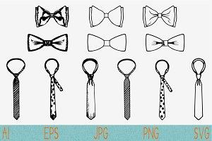 necktie, tie, bow tie svg