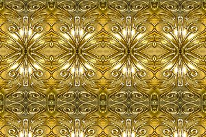 Golden Ornate Seamless Pattern