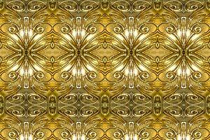 Golden Ornate Seamless Pattern