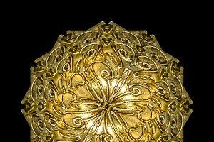 Golden Ornate Sphere Artwork