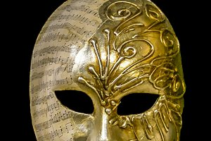 Venetian Mask Black Background Templ