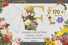 Floral Collection Alphabet&Graphics