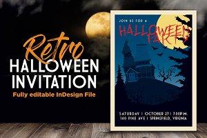 Retro Halloween Party Invite