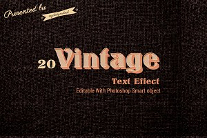 Retro/Vintage Text Effect