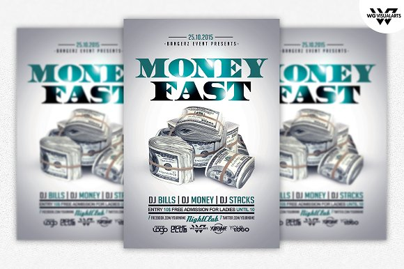 money rich flyer template flyer templates creative market