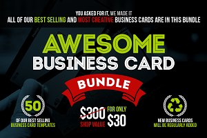 Awesome Business Card Bundle +50 PSD