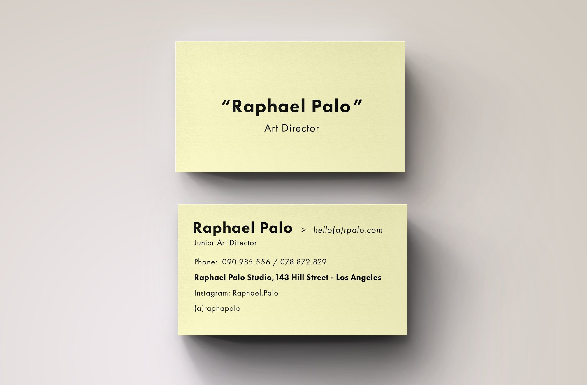 Art Director Business Card Template ~ Business Card Templates ...