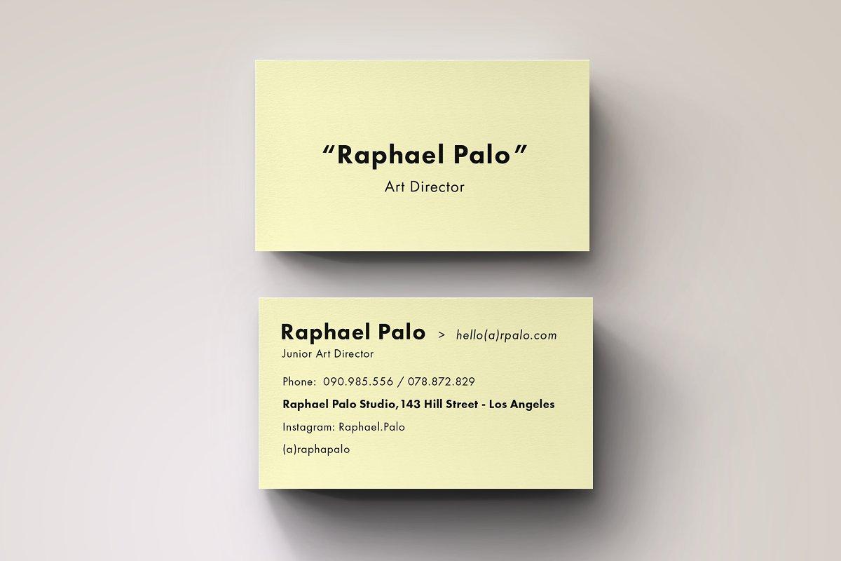Art Director Business Card Template