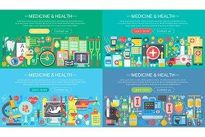 Medicine and health concepts set