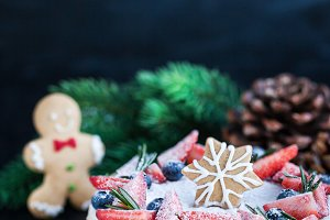 Delicious Christmas ginger cheesecak