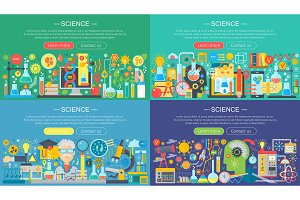 Science technology concept set.