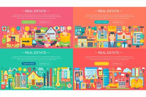 Real estate concepts set