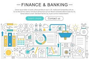 Vector finance investment concept.