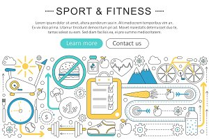 Vector sport & fitness concept