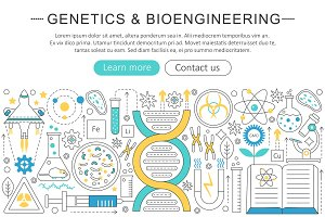Genetics & bioengineering concept