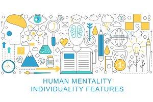Human mental individuality concept