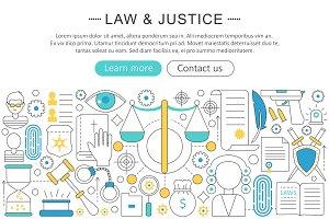 Vector law & justice concept