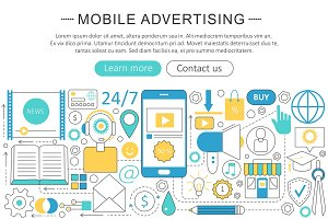 Mobile advertising marketing sales.