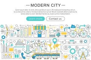Modern smart city concept.