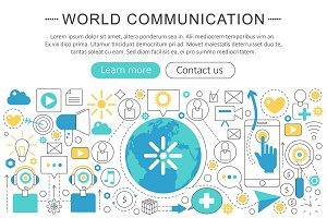 World communication concept
