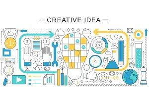 Creative idea concept.
